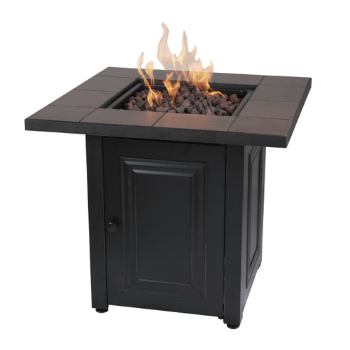 The Vanderbilt - LP Gas Outdoor Fire Pit w/ Ceramic Tile Mantel