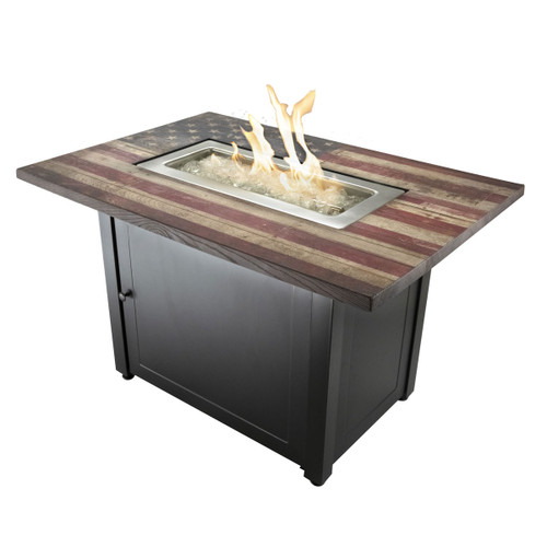 The Americana - 40 x 28 Rectangular Gas Outdoor Fire Pit