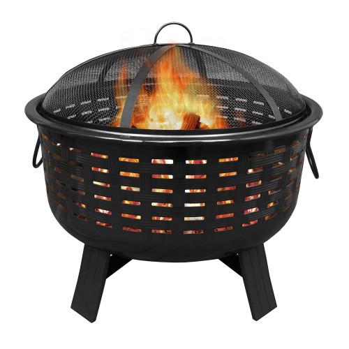"Fireglow - 25"" Porcelain Fire Pit - Bronze"