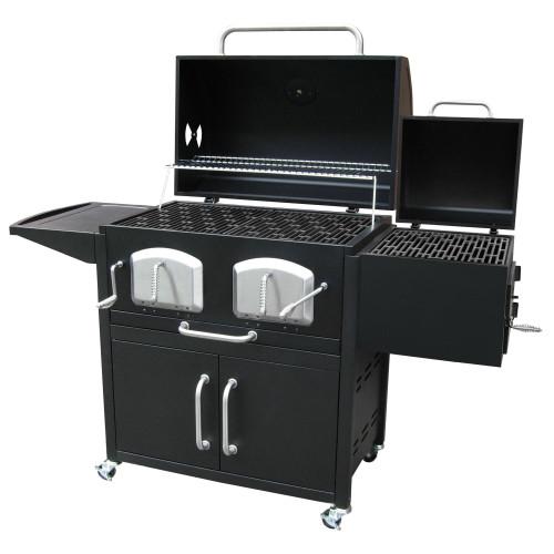 Bravo Premium Charcoal Grill w/ Offset Smoker