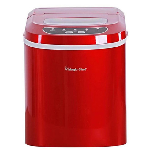 Magic Chef 27 Lb Portable Ice Maker - Red
