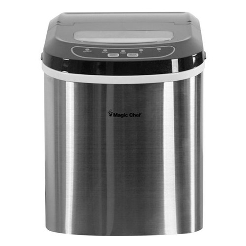 Magic Chef 27 Lb Portable Ice Maker - Stainless
