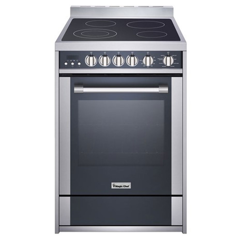 "Magic Chef - 24"" Electric Freestanding Range Convection Oven - Stainless"
