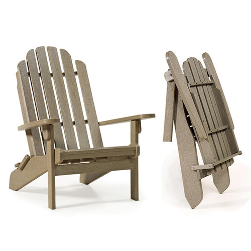 Breezesta Poly Lumber Adirondack Folding Chair