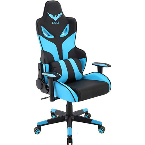 "Commando 18.5-21"" Gas Lift, 2-Tone Gaming Chair - Blue/Black"