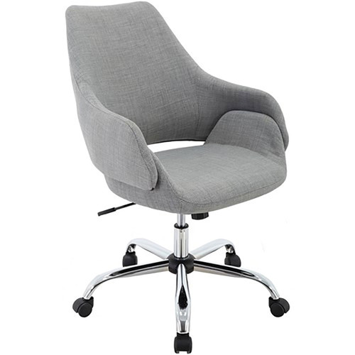 "Everson 17.75-20.75"" Gas Lift, Wheeled Office Chair - Grey"