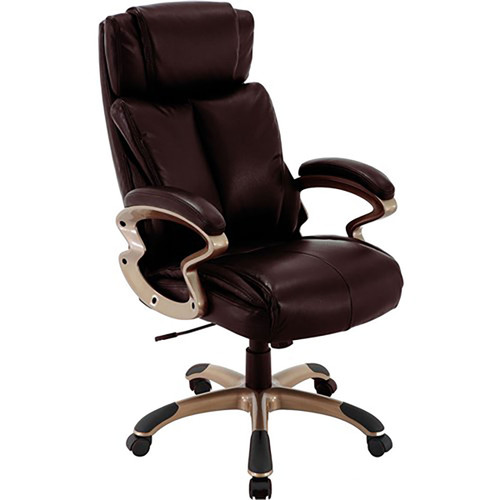 "Atlas 19.75-22.75"" Gas Lift, Wheeled Office Chair - Brown"