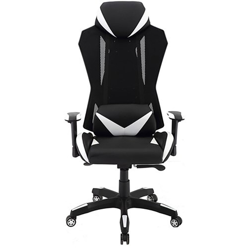 "Commando 19.25-22.5"" Gas Lift, 2-Tone Gaming Chair - Black/Grey"