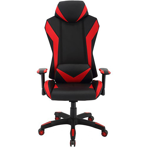 "Commando 19.25-22.5"" Gas Lift, 2-Tone Gaming Chair - Black/Red"