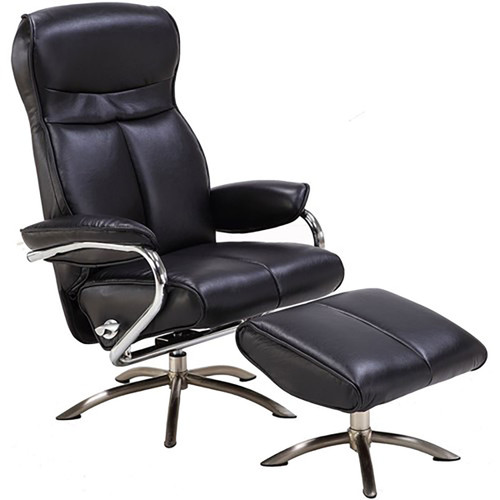 "Paterson Office Chair w/ Ottoman, 43""H - Black"