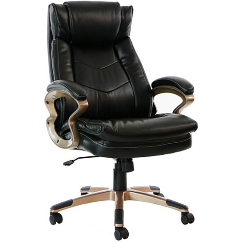 "Atlas 19.75-22.75"" Gas Lift, Wheeled Office Chair - Black"