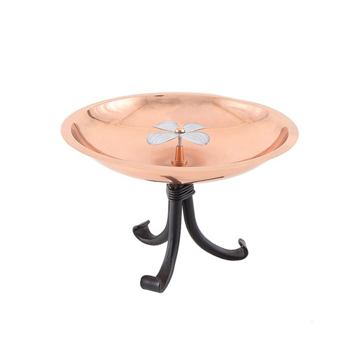 Dogwood Birdbath with Tripod Stand