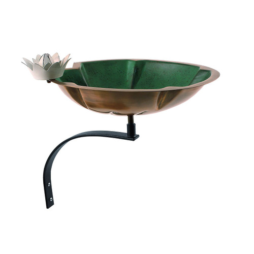 Lilypad Birdbath with Wall Mount Bracket