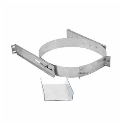 DuraTech 6''-8'' Adjustable Extended Wall Strap- Stainless Steel - 6DT-AWSX-SS
