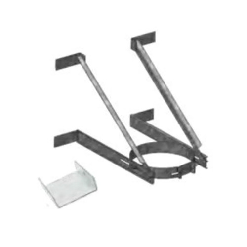 DuraTech 6''-8'' Adjustable Extended Wall Support- Stainless Steel - 6DT-XWS-SS