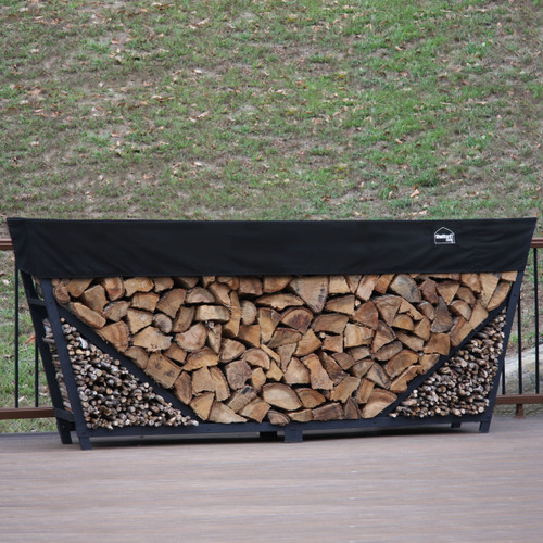 SHELTER-IT 10' Firewood Storage Rack with Kindling Storage - 1' Cover Included
