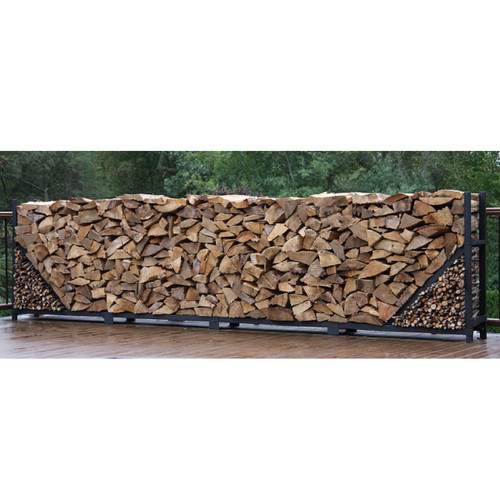 SHELTER-IT 16' Firewood Storage Rack with Kindling Storage - No Cover