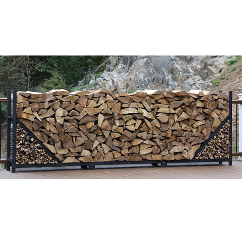 SHELTER-IT 12' Firewood Storage Rack with Kindling Storage - No Cover