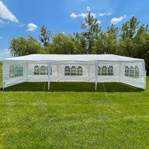 Woodeze 10' x 30' Gazebo Canopy Party Tent - White