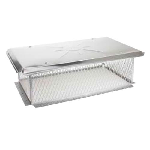 9'' x 9'' Gelco Stainless Steel Multi-Flue Chimney Cap