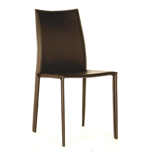 Baxton Studio Rockford Modern and Contemporary Taupe Bonded Leather Upholstered Dining Chair (Set of 2)