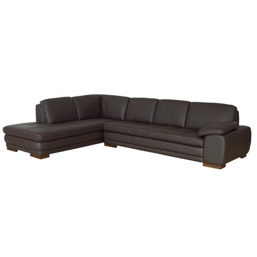 Baxton Studio Diana Dark Brown Sofa/Chaise Sectional Reverse