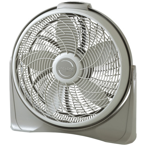 """Lasko 20"""" White/Gray 3-Speed Cyclone Fan w/ Remote Control and Wall Mount Ability"""