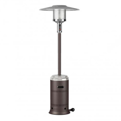 Ash and Stainless Steel Performance Series Gas Patio Heater- 46,000 BTU