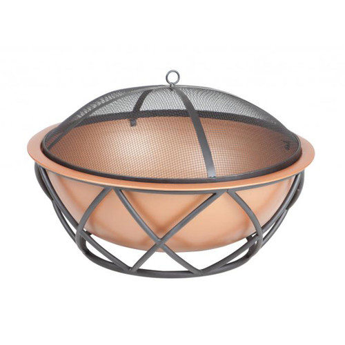 """26"""" Barzelonia Round Copper Look Fire Pit"""