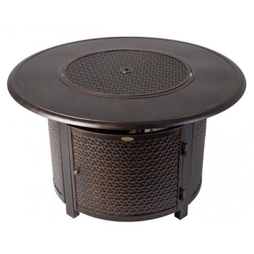 Weyland Round Aluminum Fire Pit - LP-50,000 BTU