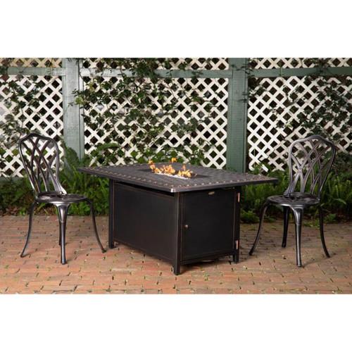 Meerin Rectangular Aluminum Fire Pit - LP-45,000 BTU