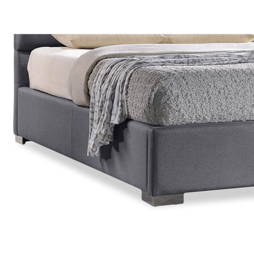 Baxton Studio Sophie Modern and Contemporary Grey Fabric Upholstered Full Size Platform Bed