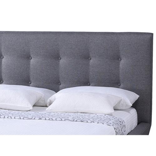 Baxton Studio Jonesy Scandinavian Style Mid-century Grey Fabric Upholstered King Size Platform Bed