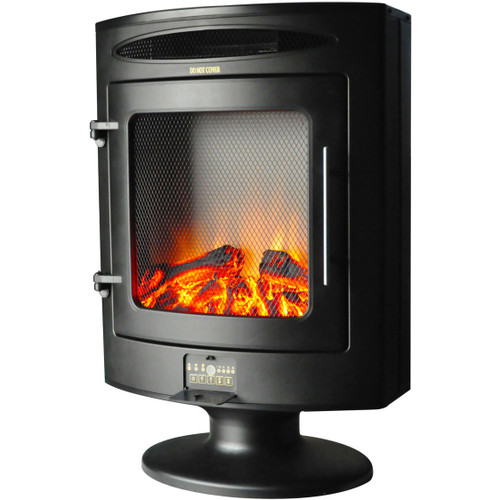 Cambridge 1500W Freestanding Electric Fireplace Heater with Log Display