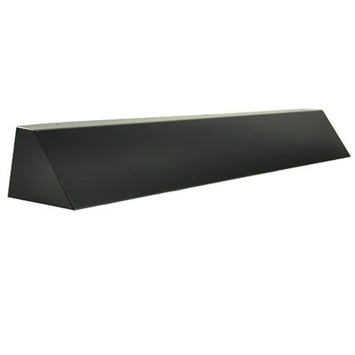 Elite Fireplace 36'' Square End Hood with 4'' Lintel Mount - Matte Black