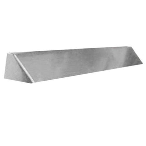 Elite Fireplace 42'' Square End Hood with 4'' Lintel Mount - Polished Chrome