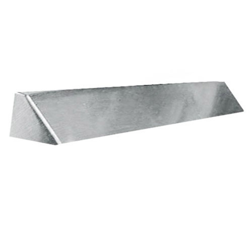Elite Fireplace 42'' Square End Hood with 4'' Lintel Mount - Satin Chrome