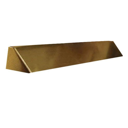 Elite Fireplace 42'' Square End Hood with 6'' Lintel Mount - Antique Brass