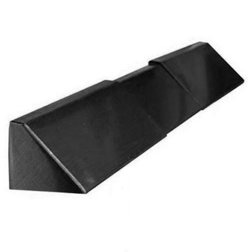 Elite Fireplace 4'' Adjustable Lintel Mount Hood - Matte Black