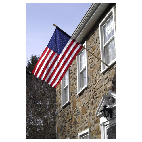 Valley Forge U.S. Flag Kit With 2.5ft x 4ft Nylon Flag & 5ft Wood Pole