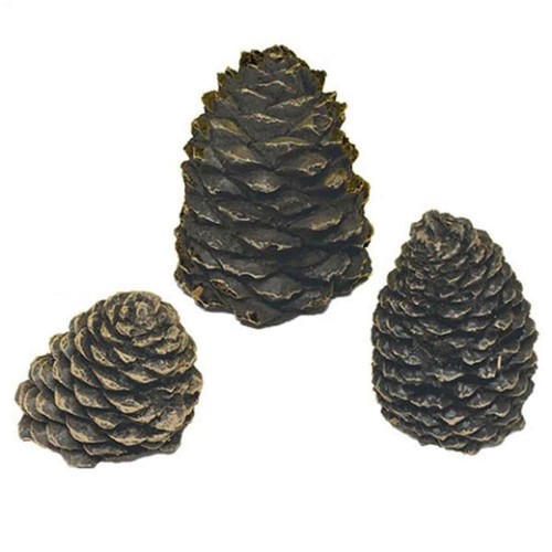 Large Straight Ceramic Pine Cone