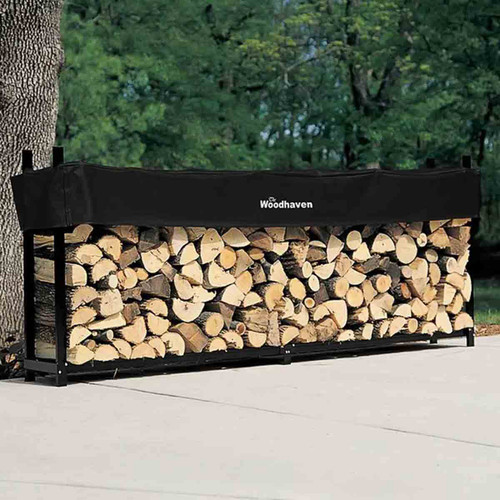 120'' Heavy-Duty Woodhaven Firewood Rack with Cover
