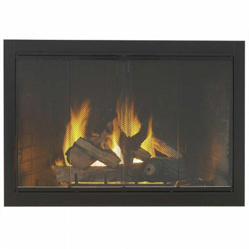 Hi Temp Velvet Black Fireplace Door