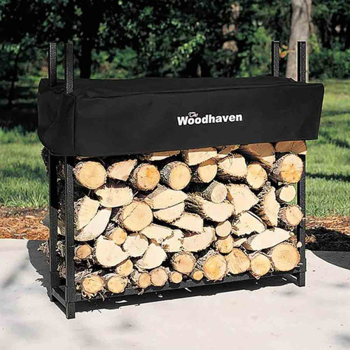 36'' Heavy-Duty Woodhaven Firewood Rack with Cover