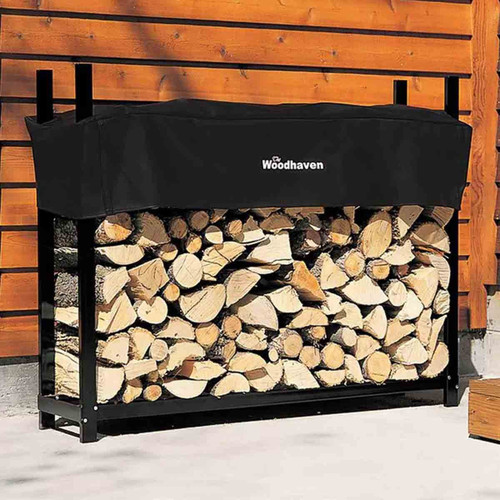 60'' Heavy-Duty Woodhaven Firewood Rack with Cover