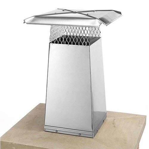 8'' x 8'' Stainless Steel Flue Stretcher - 22'' High