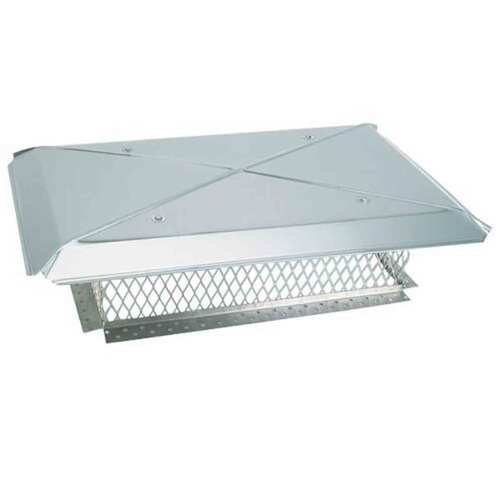 17'' x 29'' Gelco Stainless Steel Multi-Flue Chimney Cap