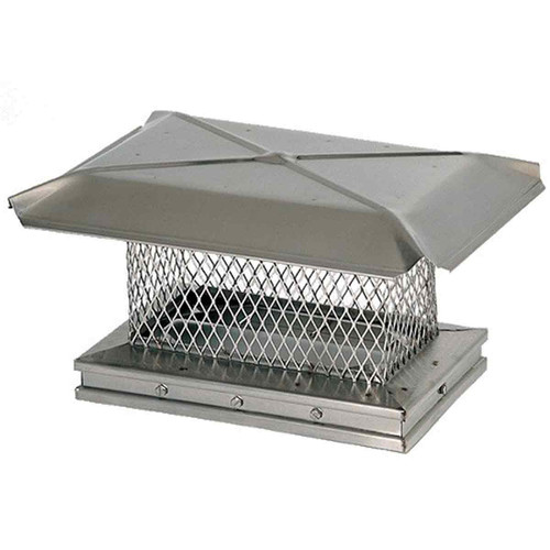 8'' x 19'' Gelco Stainless Steel Chimney Cap - 13306