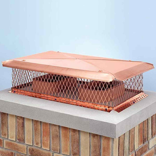 17'' x 41'' Gelco Copper Multi-Flue Chimney Cap