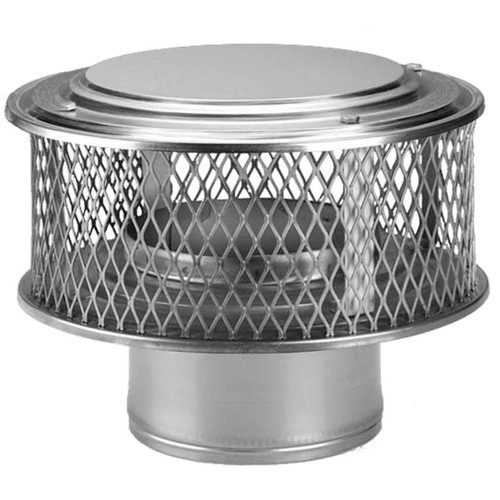 8'' Round HomeSaver Pro 304-SS Stainless Guardian Cap